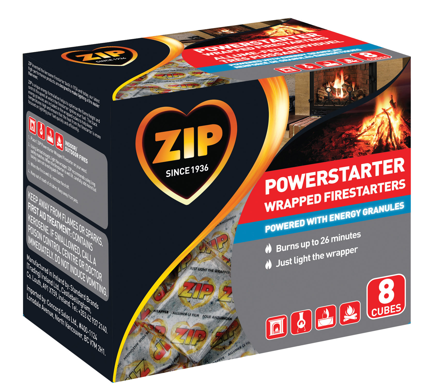 Zip Powerstarter Wrapped Firestarter