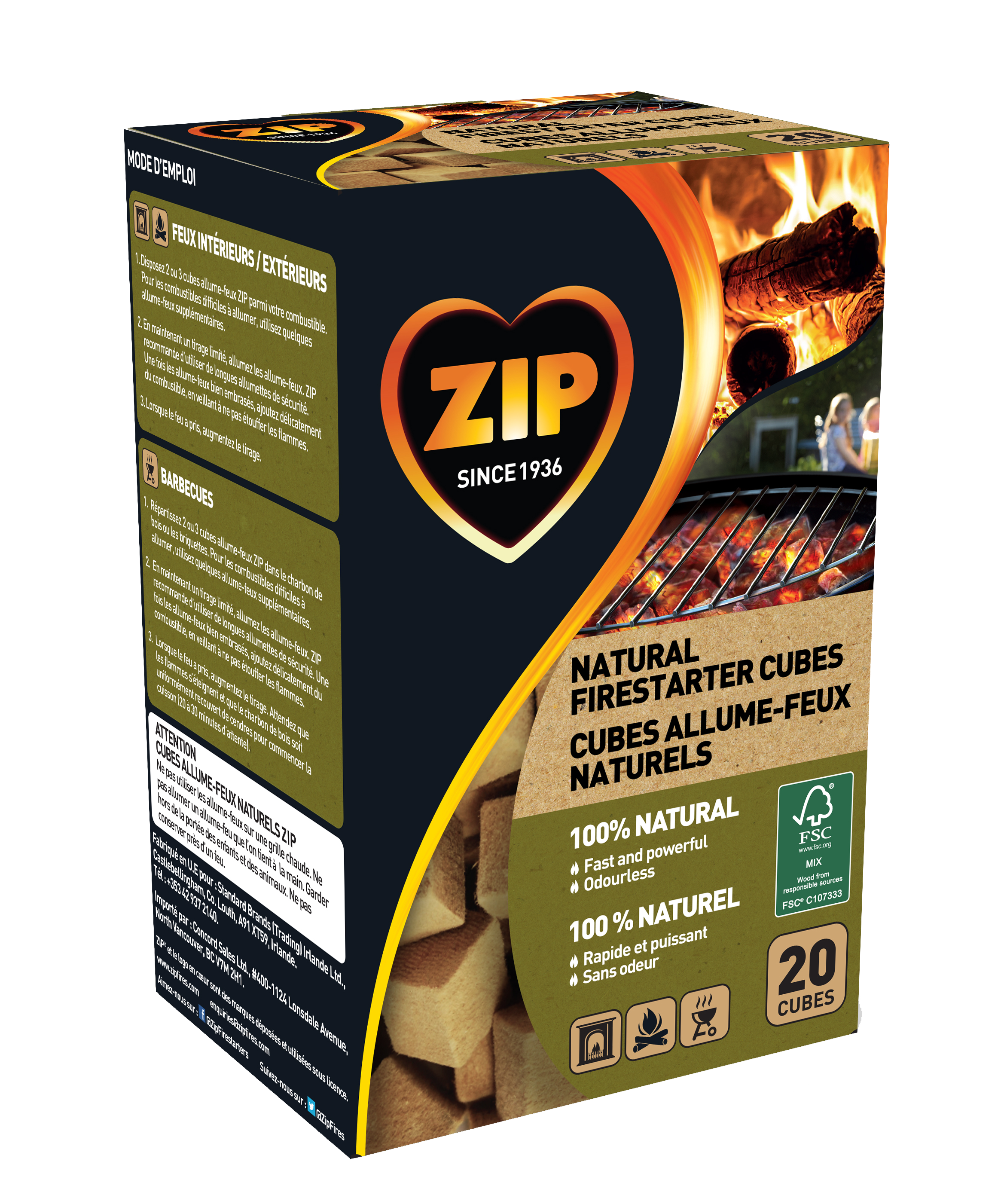 Zip Fast and Clean 100% Natural Cubes
